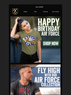 Ranger Up Military and MMA Apparel - Happy Birthday Air Force!
