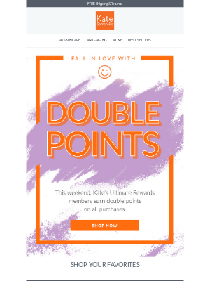 Kate Somerville Skincare - Don't Miss Double Points Weekend!