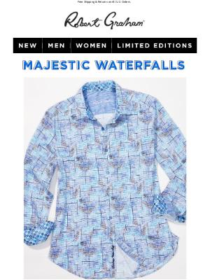 Robert Graham - NEW: Go Chasing Waterfalls Stretch Cotton Sport Shirt