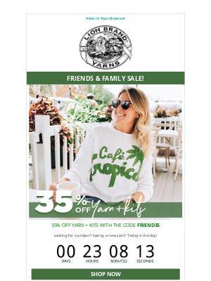 Lion Brand Yarn - Friends & Family Sale!