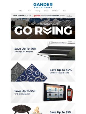 Gander Mountain - RV Gear & Essentials on Sale Now!