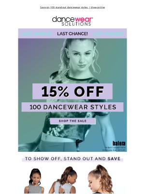 Dancewear Solutions - Don't Miss 15% Off