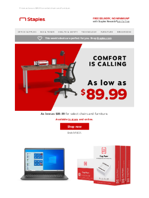 Staples - You'll need to sit down for this!