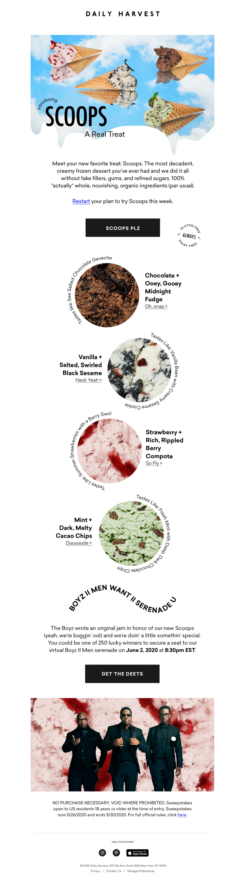 Daily Harvest Introducing Scoops A Real Treat Meet your new favorite treat: