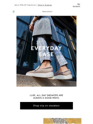 Naturalizer - Ease into these. Chic + comfy slip on sneaks.