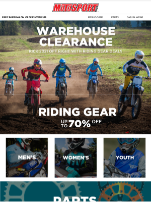 MotoSport - New Year, New Warehouse Clearance Deals