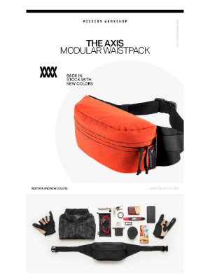 Mission Workshop - [Restock] The Axis — New Colors // MISSION WORKSHOP