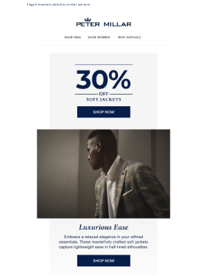 Peter Millar - Starts Today: Save 30% On Soft Jackets