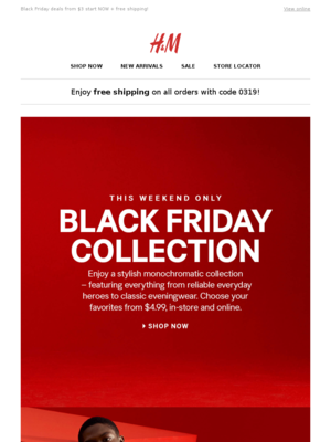 H&M - Shop our Black Friday Collection from $4.99!