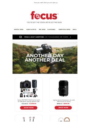 Focus Camera - Save 75% on Knox Gear, Sony, Nikon & More