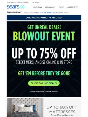 Sears - Massive. Savings. Blowout.