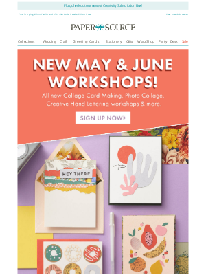 Paper Source - Get Your Craft On! All-New May & June Workshops Are Here.