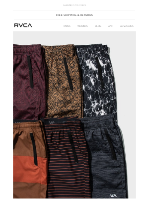 RVCA - New Online Exclusive Colors of the Yogger IV & Stretch Short