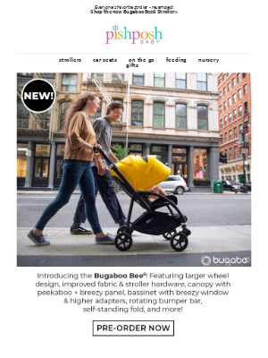 PishPoshBaby - The Bugaboo Bee6 is coming soon! Check out what's new >