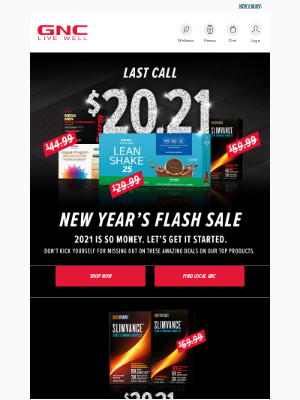 GNC - 🚨LAST DAY🚨 $20.21 Slimvance, Lean Shake & Multivitamins