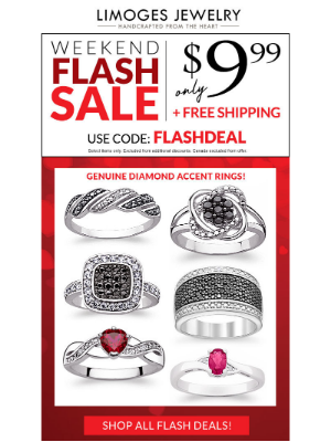 Limoges Jewelry - Flash Sale⚡$10 Genuine Diamond Accent Rings