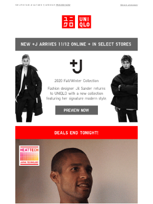 UNIQLO - Deals on HEATTECH (and more!) end tonight