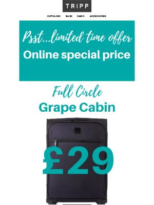 Tripp (UK) - 🗣️Psst…limited time online offer: Cabin only £29