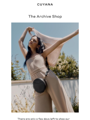 Cuyana - Reminder: The Archive Shop Is Open