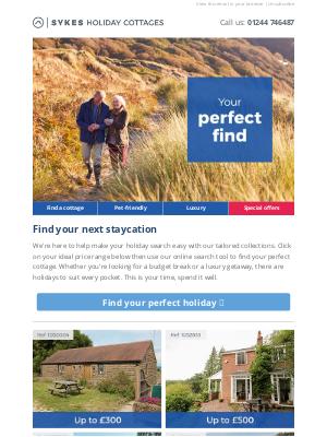 Sykes Cottages UK - Hey, find holidays for under £300 per week