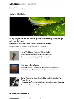 Why Python is not the programming language of the future | Rhea Moutafis in Towards Data Science