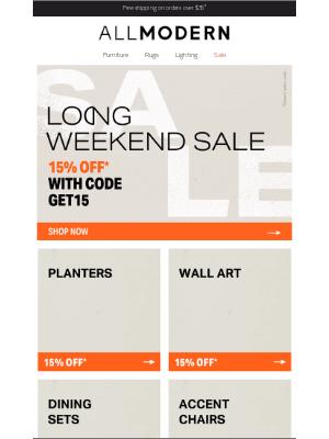 AllModern - planters 15% ●ff* → ends t●m●rr●w
