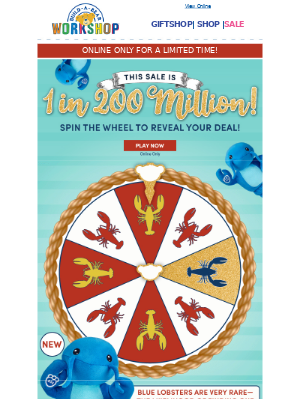 SPIN TO WIN! This Sale Is 1 in 200 Million!