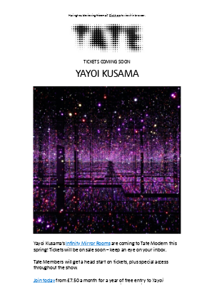Tate (UK) - ✨ Get ready for Yayoi Kusama