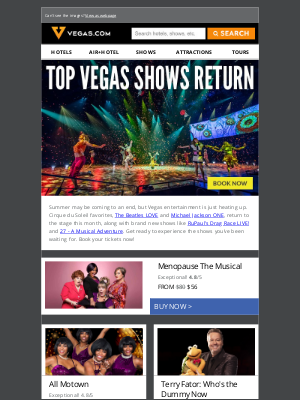 Vegas - Your Favorite Vegas Shows are Back! Tickets from $43