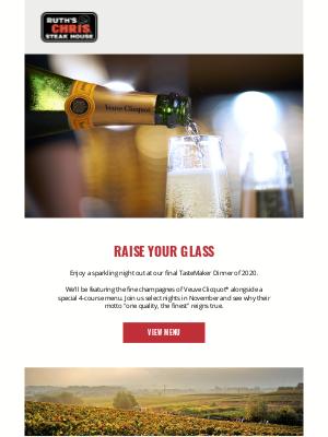 Ruth's Chris - A Sparkling 4-Course Veuve Clicquot Event