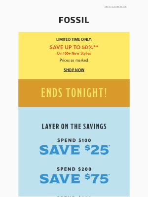 Ending Tonight: Major Savings
