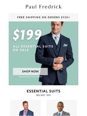 Paul Fredrick - Last Chance: $199 Essential wool suits.