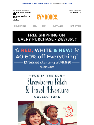 ⭐ Red, White & New! 40%-60% off everything!