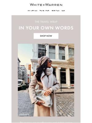 White + Warren - Stylish Women Everywhere Love Our Travel Wrap