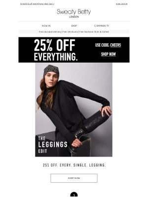 Sweaty Betty - Black Friday: The one time ALL our leggings are on sale