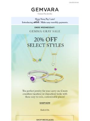 Gemvara - Last Day to Save 20% On Top Sellers!