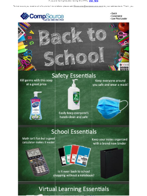 CompSource - We have all of your back to school essentials!