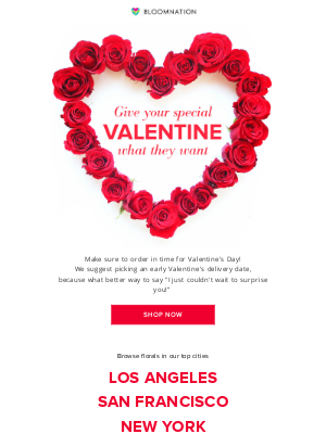 BloomNation - Valentine's Day ❤️ is almost here!