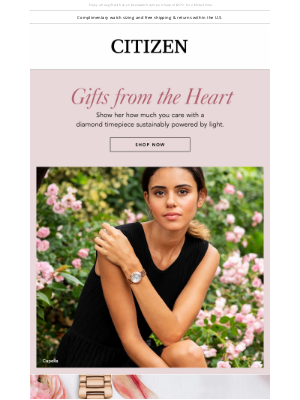 Citizen Watch Company - Valentine's Day Gifts from the Heart