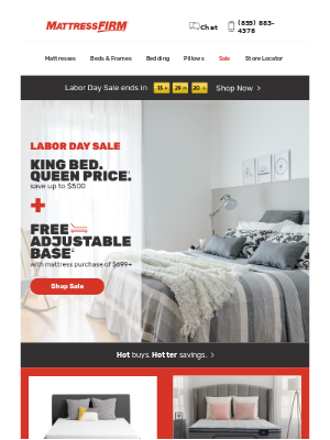 Mattress Firm - *ENDS TODAY* Labor Day Sale