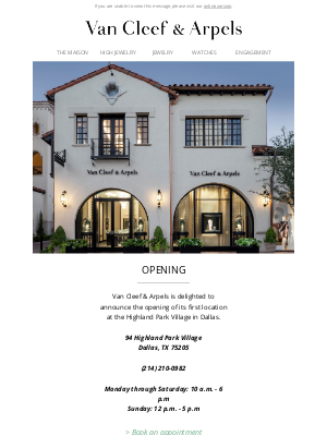 Van Cleef & Arpels - Welcome to our enchanting new boutique in Dallas