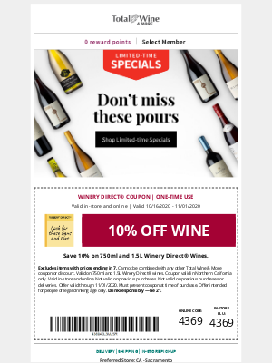 Total Wine & More - Save on Limited-time Specials!