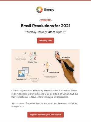 Litmus - And the top email resolutions are...