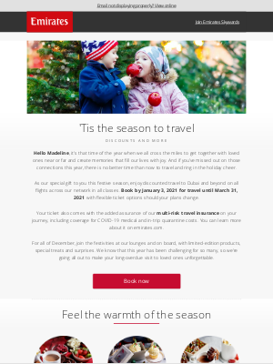 Emirates - A gift for you this holiday season