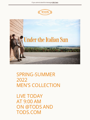 TOD'S - Live today the Spring-Summer 2022 Men's Collection