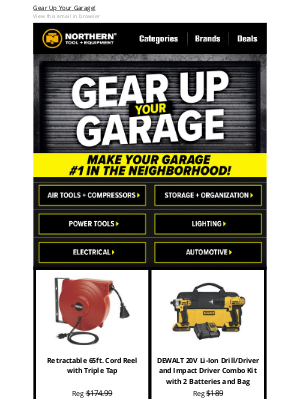 Northern Tool + Equipment - Garage Essentials: Top Sellers For You!