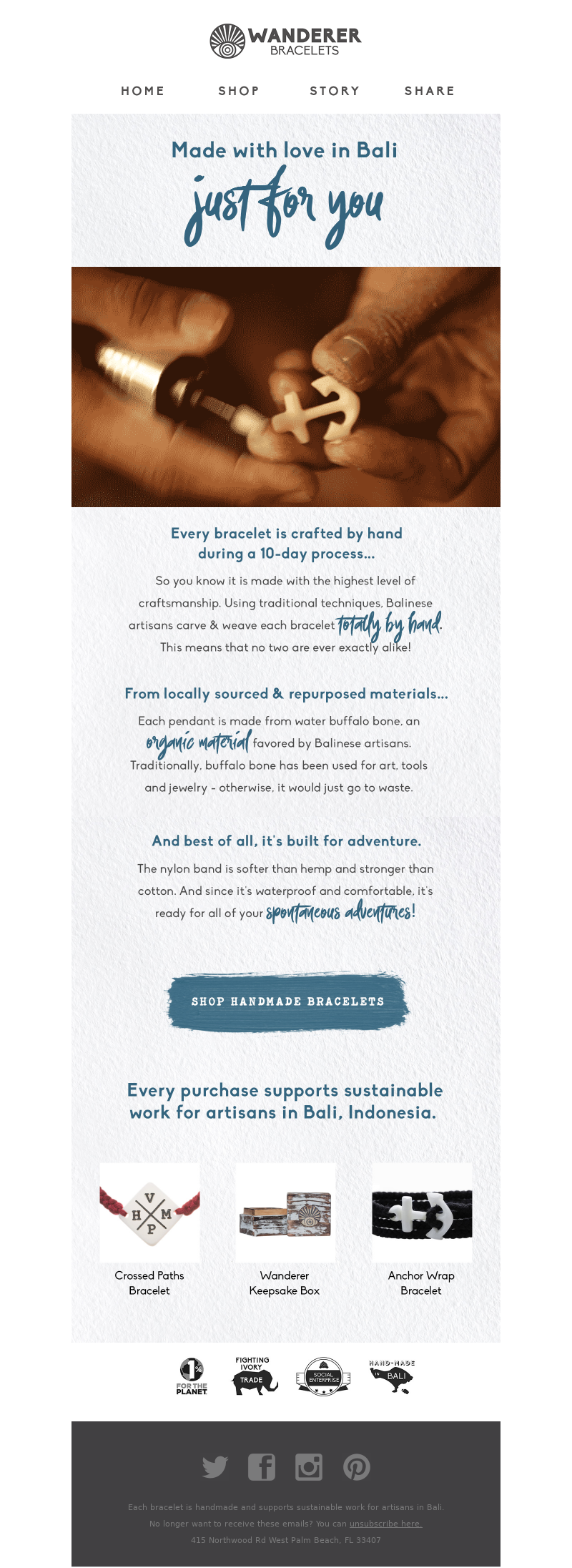 onboarding campaign example that educates about the brand
