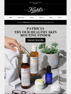 Kiehl's (UK) - Patricia, Find your routine with our new skincare diagnostic tool
