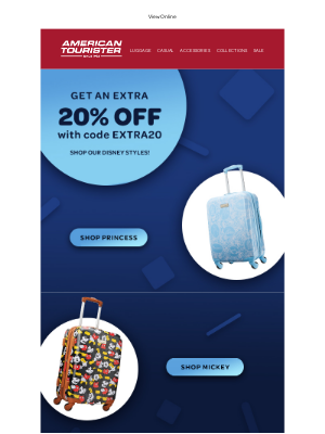 American Tourister - Your Disney favorites are ready to be packed