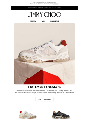 Jimmy Choo - Stand Out In Statement Sneakers